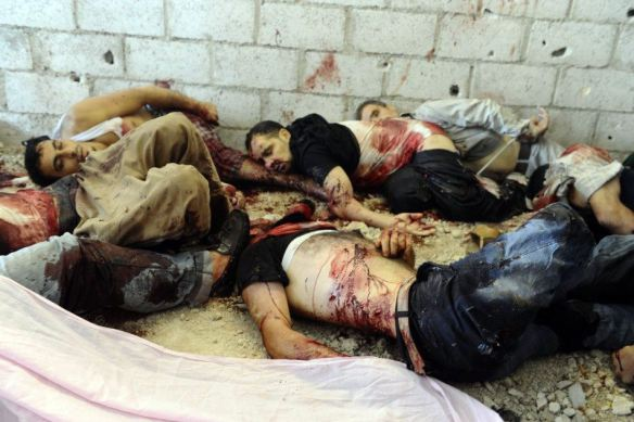 Mass murder of innocent Syrian people--Photo source www.endignorance.org